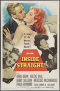 "Movie Posters:Drama, Inside Straight (MGM, 1951). One Sheet (27"" X 41""). Drama.. ..."