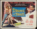 "Movie Posters:Adventure, Drums of Tahiti (Columbia, 1954). Half Sheet (22"" X 28"") 3-D Style.Adventure.. ..."