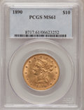 Liberty Eagles: , 1890 $10 MS61 PCGS. PCGS Population (58/94). NGC Census: (119/54).Mintage: 57,900. Numismedia Wsl. Price for problem free ...