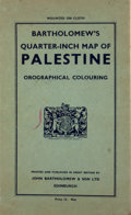 Antiques:Posters & Prints, Bartholomew's Quarter-Inch Map of Palestine. Edinburgh: John Bartholomew and Son, [ca. 1930]. Mounted to publisher's...