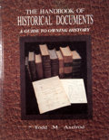 Books:First Editions, Todd M. Axelrod. The Handbook of Historical Documents: AGuide to Owning History. [Neptune City]: [T. F. H. ...