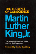 Books:First Editions, Martin Luther King, Jr. The Trumpet of Conscience. New York:Harper & Row, [1968]. First edition, first printing. Oc...