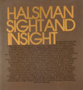 Books:First Editions, Philippe Halsman. Halsman Sight and Insight. Garden City:Doubleday, 1972. First edition, first printing. Quarto...