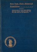 Books:First Editions, Proceedings of the New York State Historical Association.[New York]: New York State Historical Association, 1902-1947. ...(Total: 29 Items)