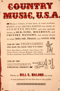 Books:First Editions, Bill C. Malone. Country Music U. S. A. Austin: AmericanFolklore Society, [1968]. First edition. Octavo. Publisher's...