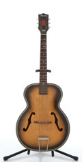 Musical Instruments:Acoustic Guitars, Vintage Harmony H1213 Tobacco Burst Archtop Acoustic Guitar #7321H1213....