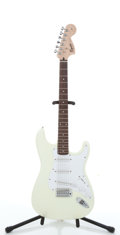 Musical Instruments:Electric Guitars, 2004 Squier By Fender Strat White Electric Guitar #IC040724171...