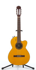 Musical Instruments:Electric Guitars, 2001 Epiphone Chet Atkins Natural Electric Guitar #S01104169....
