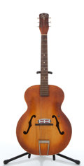 Musical Instruments:Acoustic Guitars, Vintage Silvertone Sunburst Archtop Electric Acoustic Guitar,#N/A....