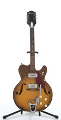 Musical Instruments:Electric Guitars, Vintage Harmony Sunburst Electric Semi-Hollow Body Guitar #N/A...