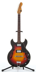 Musical Instruments:Electric Guitars, 1960's Kapa Challenger Ch 6 Sunburst Electric Semi-Hollow BodyGuitar #23438...