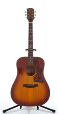 Musical Instruments:Acoustic Guitars, 1970's Gibson J-45 Deluxe Sunburst Acoustic Guitar #A113115....