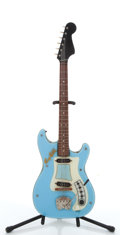 Musical Instruments:Electric Guitars, Vintage Hagstrom Sky Blue Electric Guitar, #6031138....