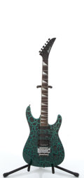 Musical Instruments:Electric Guitars, 1980 Jackson XR Green Crackle Electric Guitar, #8070175....