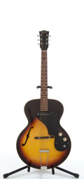 Musical Instruments:Electric Guitars, 1963 Gibson ES-120T Sunburst Electric Semi-Hollow Body Guitar,#114689....
