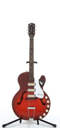 Musical Instruments:Electric Guitars, 1962 Harmony Rocket Red Electric Semi-Hollow Body Guitar, #N/A...