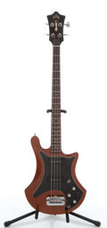 Musical Instruments:Bass Guitars, 1979 Guild B-302 Walnut Electric Bass Guitar, #201581....