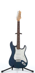 Musical Instruments:Electric Guitars, Johnson Strat Copy Blue Electric Guitar #N/A....