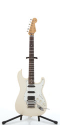 Musical Instruments:Electric Guitars, 1990 Fender Modified Stratocaster White Electric Guitar,#J027748....