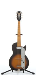 Musical Instruments:Electric Guitars, Vintage Kay Sunburst Solid Body Electric Guitar #N/A....