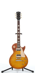 Musical Instruments:Electric Guitars, 2005 Gibson Les Paul Sunburst Electric Guitar #01525518....