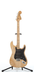 Musical Instruments:Electric Guitars, Vintage Fender Stratocaster Natural Electric Guitar #S984259....