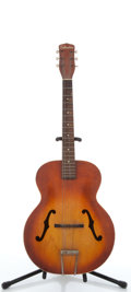 Musical Instruments:Acoustic Guitars, Vintage Silvertone H623 Sunburst Archtop Acoustic Guitar, #3026H623....