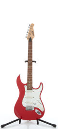 Musical Instruments:Electric Guitars, Lotus Strat Copy Red Electric Guitar # N/A....