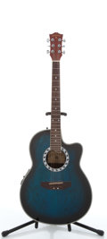 Musical Instruments:Electric Guitars, Indiana SRB BLS Shannondale Blueburst Electric Acoustic Guitar#HS031029....