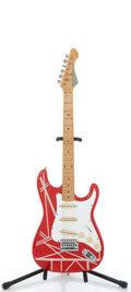 Musical Instruments:Electric Guitars, 1980's Stinger SGV Red/Graphics Electric Guitar, # 806009....