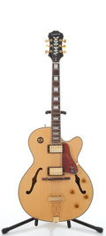 Musical Instruments:Electric Guitars, 2003 Epiphone Joe Pass Emperor II Natural Semi-Hollow Body Guitar,#U03014574....