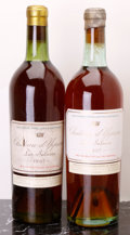 White Bordeaux, Chateau d'Yquem 1937 . Sauternes. 2bn, 1bsl, 1tl, 1cc, 1beautiful deep amber color, 1 rich mahogany. Bottle (2). ...(Total: 2 Btls. )