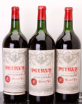 Chateau Petrus 1961 Pomerol 1ts, 1bsl, 1 Reserve Nicolas, 1 Selection Nicolas, excellent color and condition Magnum (3)