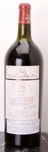 Red Bordeaux, Chateau Mouton Rothschild 1945 . Pauillac. ts, ssos. Magnum(1). ... (Total: 1 Mag. )