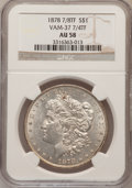 Morgan Dollars, 1878 7/8TF $1 7/4TF Strong AU58 NGC. Vam-37. NGC Census: (50/3360).PCGS Population (57/5147). Mintage: 544,000. Numismedia...