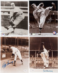 Baseball Collectibles:Photos, Pitching Greats Signed Photographs Lot of 4....