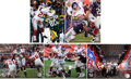 Football Collectibles:Photos, New York Giants Super Bowl XLII Champion Signed Photographs Lot of5....