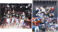 Football Collectibles:Photos, Legendary NFL Tandems Multi Signed Oversized Photographs Lot of 2....