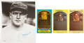Baseball Collectibles:Others, Hall of Famers Signed Memorabilia Lot of 4....