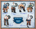 "Hockey Collectibles:Photos, ""Class of 1967"" Expansion Goalies Multi Signed OversizedLithograph...."