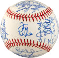 Baseball Collectibles:Balls, 1991 American League All Stars Team Signed Baseball (29Signatures)....