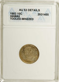 Coins of Hawaii: , 1883 10C Hawaii Ten Cents--Tooled, Whizzed--ANACS. AU53 Details.NGC Census: (10/141). PCGS Population (28/174). Mintage: 2...
