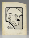 Illustration:Advertising, E.R.H.. Jack Sheridan, Umpire. Ink on board. 10 x 8in.(sight seen). ...