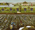 Fine Art - Painting, American:Modern  (1900 1949)  , HANNAH HARTZ (American, Twentieth Century). CottonPlantation, 1977. Acrylic on masonite. Signed and dated tolower righ...