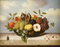 Fine Art - Painting, European:Other , UNKNOWN ARTIST (Continental, Seventeenth - Eighteenth Century). Still Life with Fruits. Oil on canvas. 11-3/4in. x 9-3/4...
