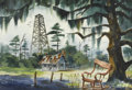 Fine Art - Painting, American:Contemporary   (1950 to present)  , JOYCE GILBERT (American, Late Twentieth Century). RockingChair 1980, one of a group of three. Watercolor. 13in. x19in....