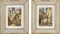 Fine Art - Painting, European:Other , UNKNOWN ARTIST. Pair: Spanish Street Scene. Oil on canvas. Signed to lower right YIALA. 8.5in. x 6-1/4in.. ... (Total: 2 Items)