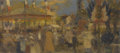 Fine Art - Painting, European:Other , Continental. French Scene. Oil on canvas. 22in. x 10in.. ...