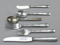 Other:American, ASSORTMENT OF SILVER FLATWARE. Gorham. Includes two spoons, onesalad fork, one dinner fork, one knife, one butter knife. ...