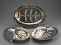 Miscellaneous: , GROUP OF SIX SILVER MEAT TRAYS. Most marked to base: one W.A., England, one O.C., Community Plate, one Henley, O... (Total: 6 )